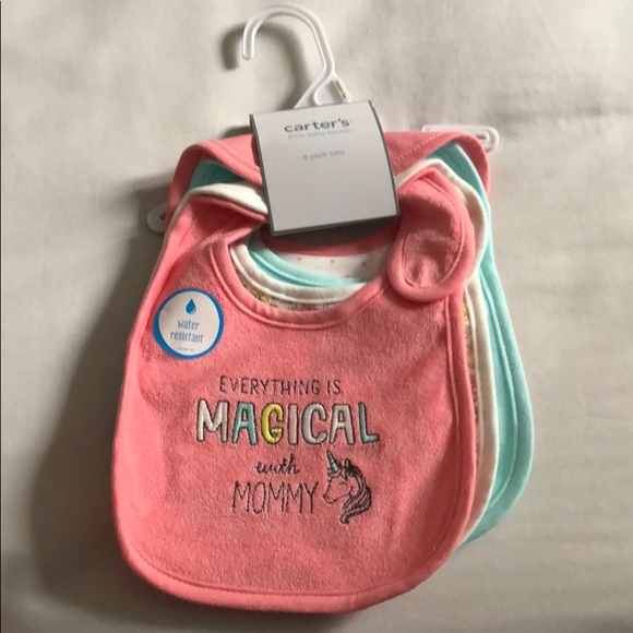 Carter's Other - NWT Carters 4 pack bibs